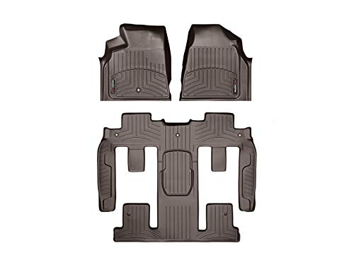 WeatherTech Custom Fit FloorLiner - 472511-479423 - 1st Row, 1-Piece 2nd/3rd Row (Cocoa) (For Buick Mats Floor Weathertech)