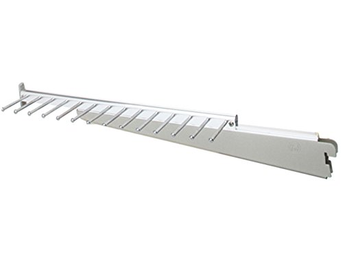 Organized Living freedomRail Sliding Tie and Belt Rack - Nickel by Organized Living