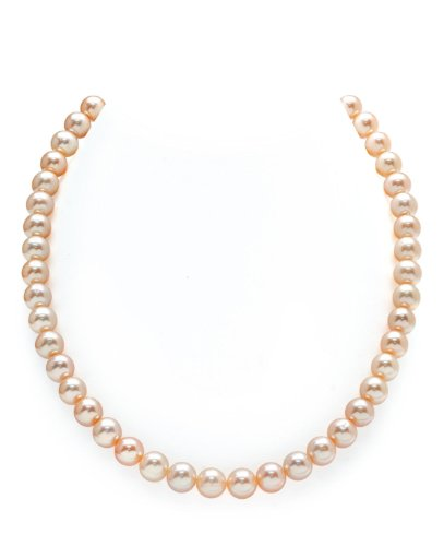 14K-Gold-7-8mm-Peach-Freshwater-Cultured-Pearl-Necklace-18-Inch-Princess-Length