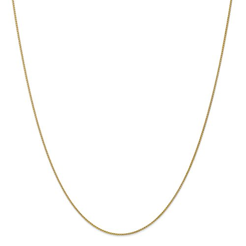 Snake 10k - 10k Gold Wheat Chain Necklace with Lobster Clasp (0.9mm) - Yellow-Gold, 24 in
