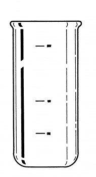 Labconco 7542600 Borosilicate Glass Fast-Freeze Flask Bottom, 300ml Volume