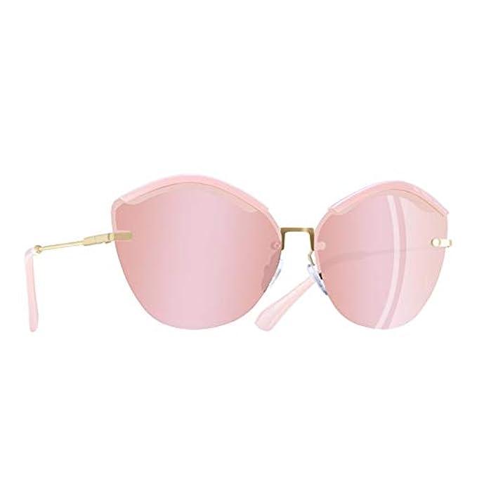 Moda Sole rosa Eye Half Occhiali Donna Sunglasses Frame Kuxi B Donna Da Cat