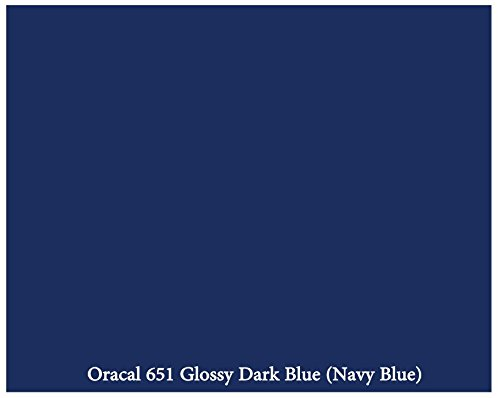 "12"" x 10 Foott Roll of Glossy Oracal 651 Dark Blue (Navy Blue) Adhesive-Backed Vinyl for Craft Cutters, Punches and Vinyl Sign Cutters"
