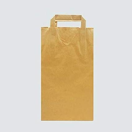 Bolsa Papel ASA 22+9X34 Marron Kraft hasta 3KG de Peso. Asas ...