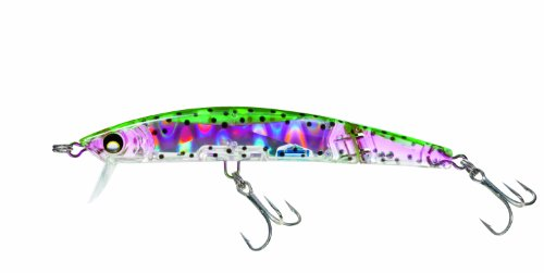 Yo-Zuri Crystal 3D Minnow Deep Diver Jointed Floating Lure, Holographic Rainbow Trout, 5 1/2-Inch ()