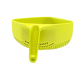 Joseph Joseph 40088 Square Colander Stackable with Easy-Pour Corners and Vertical Handle, Medium, Green