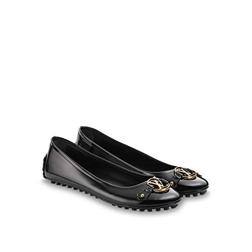 (LV Louis Vuitton Dauphine Ballerine Flat Shoes 39 / US 9 Black)