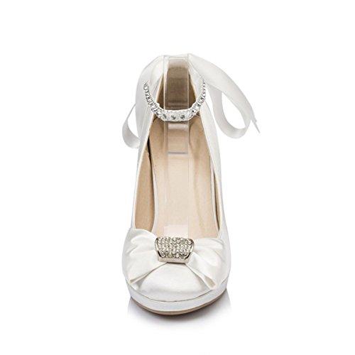 Weiß Fashion Kevin Modische Damen Hochzeitsschuhe HRgqgId