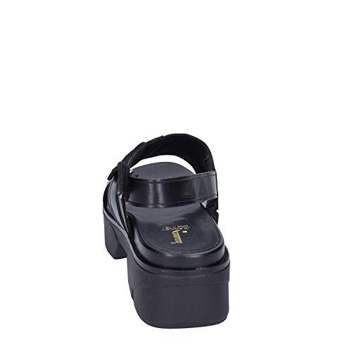 Pelle Donna Col Nero Jeannot Tacco Scarpe xA8qPZS