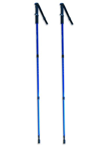 BAFX Products 2 Pack Anti Shock Hiking / Walking / Trekking Trail Poles 1 Pair