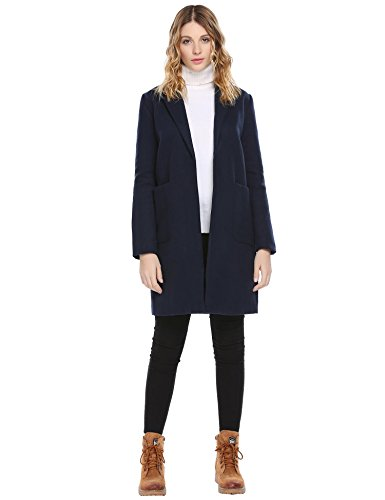 Wool Blend Long Coat - 6
