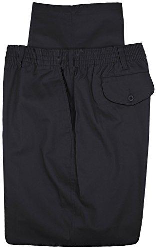 Falcon Bay Big   Tall Mens Casual Twill Pants Full Elastic Waist  44W X 30L  Navy