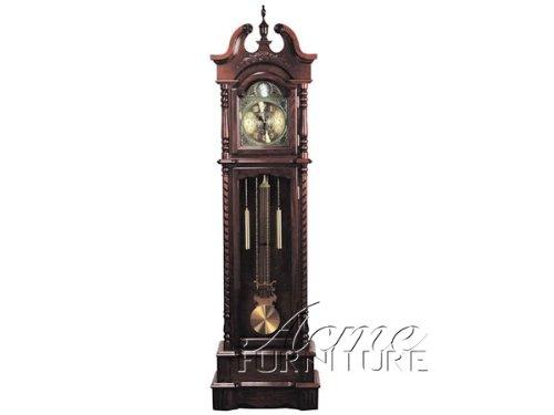 ACME 01431 Karbin Grandfather Clock, Dark Walnut Finish ACME Furniture