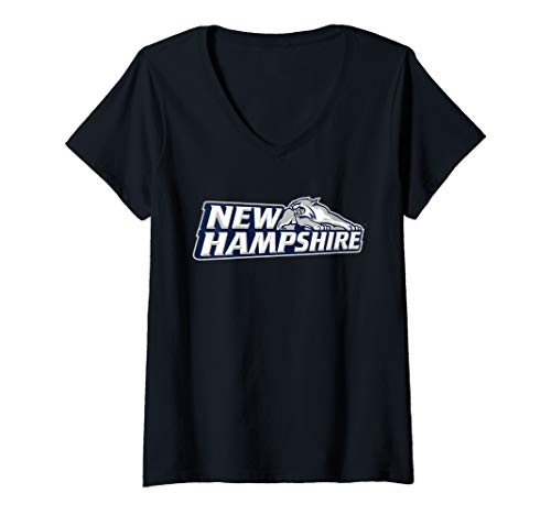 Womens University of New Hampshire UNH Wildcats NCAA PPNHM01 V-Neck T-Shirt (Of Merchandise New Hampshire University)