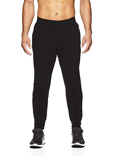 Gaiam Men's Zen Fleece Jogger Yoga Pants - Performance Workout & Running Sweatpants - Zen Black, Medium