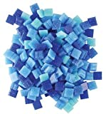 Jennifer's Mosaics Denim Mix 3/8-Inch Venetian Style Glass Mosaic Tile, Assorted Colors, 8-Ounce