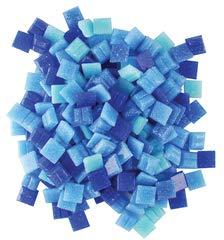 Jennifer's Mosaics Denim Mix 3/8-Inch Venetian Style Glass Mosaic Tile, Assorted Colors, 8-Ounce