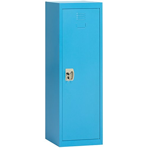 Cheap Best Choice Products 48in Classic Metal Storage Locker w/Lock and Hanging Rod for Home, Kids, School - Blue free shipping