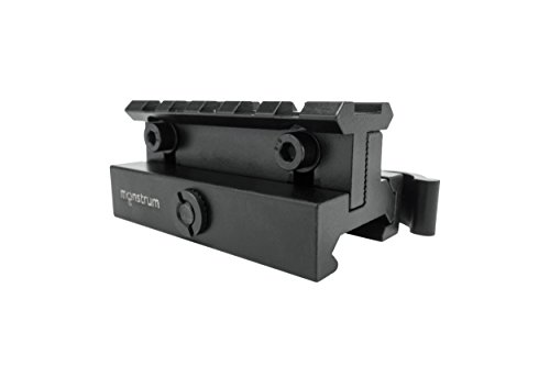 Monstrum Tactical Lockdown Series Adjustable Height Riser Mount with Quick Release