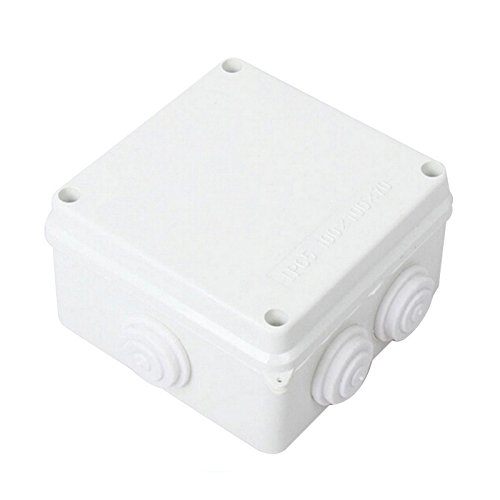 Junction Box - SODIAL(R) White ABS IP65 Waterproof Enclosure Square Junction Box 100x100x70mm