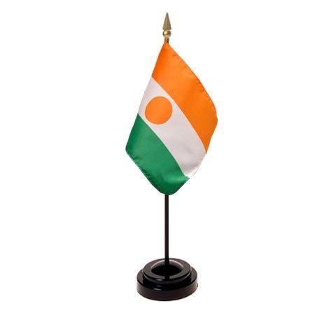Niger Flag 4X6 Inch Mounted E Gloss