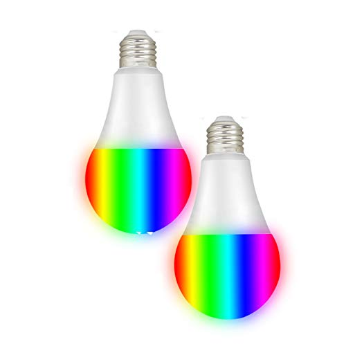 Smart RGBW Tunable White & Color LED Bulbs(10W), Cxy WiFi APP-Smartphone Controlled LED Light Bulbs, Multicolor, Dimmable, Compatible with Alexa or Google Home, 100-Watt Equivalent.(2 Pack)
