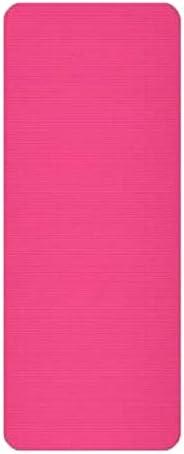 Yoga mat コルクのヨガマット、太いヨガマット太いピラティスヨガピラティスエアロビクス強い構造快適なホームフィットネスマット、ピンク workout