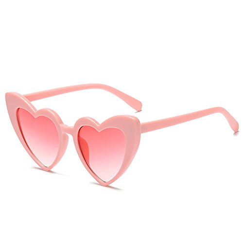 Love Heart Shaped Sunglasses Women Vintage Cat Eye Mod Style Retro - Shaped Heart Sunglasses Pink
