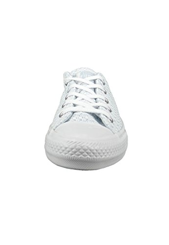 Converse Mujeres Calzado / Zapatillas de deporte CTAS Gemma Festival Knit Ox Porpoise White Mouse Blau