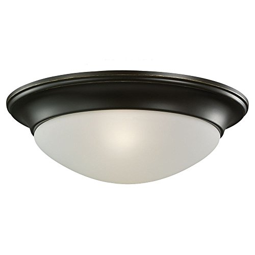 "picture of Sea Gull Lighting 7543491S-782 Nash - 11.5"" LED Small Flush Mount, Heirloom Bronze Finish with Satin Etched Glass"