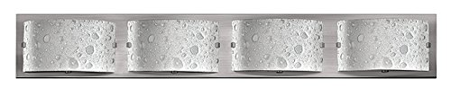(Hinkley 5924BN-LED2 Contemporary Modern Four Light Bath from Daphne collection in Pwt, Nckl, B/S, Slvr.finish,)