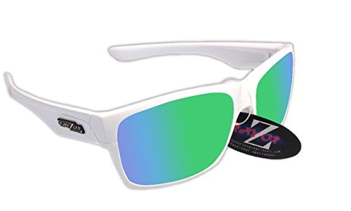 RayZor Lunettes de cyclisme pour Sport Lunettes de soleil, avec un objectif Miroir Vert en iridium anti-reflets