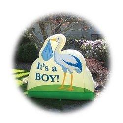 "Bebe Sounds ""It's a Boy!"" Stork Inflatable"