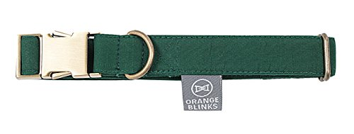 Orange Blinks Renoirs' Picnic Collection Collar for Pets, Green ()