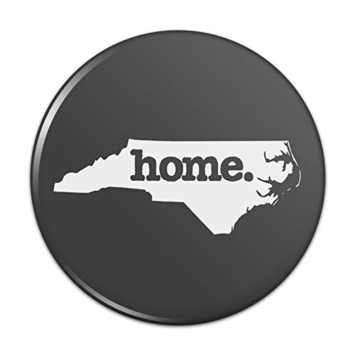 (North Carolina NC Home State Solid Dark Gray Grey Officially Licensed Kitchen Refrigerator Locker Button Magnet - 2.25