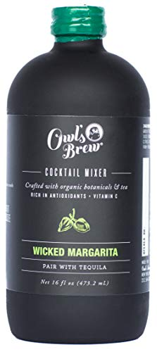 Owl's Brew Wicked Margarita Cocktail Mixer, 16 Ounce Bottle (Pack of 6)