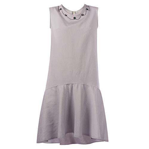 b12c4bfbe Amazon.com: Embellished Linen Peplum Hem Dress Midi Flax Dress With  Asymmetrical Ruffle Hem: Handmade