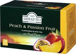Ahmad Tea of London Peach & Passion Fruit Tea in Bags x 20 (Pack of 2)