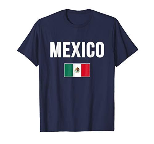Mens Mexico T-shirt Mexican Flag . XL Navy -
