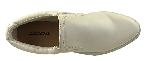 Soda Ladies Faux Leather Almond Toe Sneakers Summer Casual Shoes Size UK 3-9 White IQcUP1