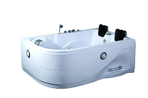 SDI Factory Direct 2 Person Indoor Hot Tub Massage Bathtub Hydrotherapy SPA (052A White) w/Bluetooth