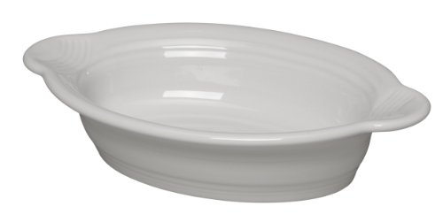Fiesta 9 Inch by 5 Inch Individual Oval Casserole, White