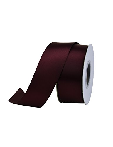 Ribest 1-1/2 inch 25 Yards Solid Double Face Satin Ribbon per Roll for DIY Hair Accessories Scrapbooking Gift Packaging Party Decoration Wedding Flowers Burgundy (Ribbon Satin Burgundy)
