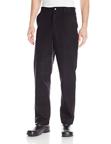 Red Kap Men's Stain Resistant, Flat Front Work Pants, Black, 32W x 32L