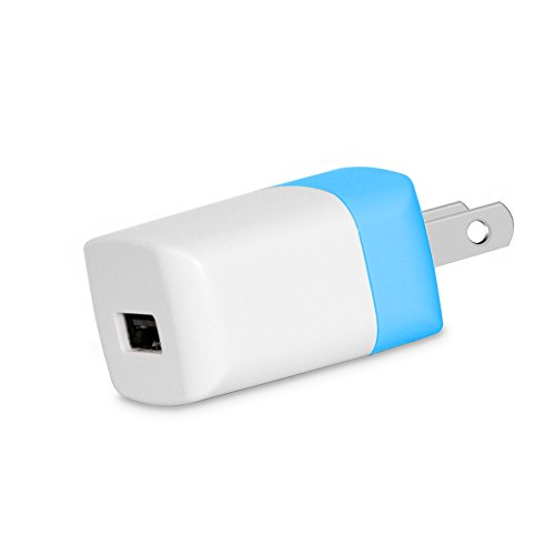 Wall Charger, Asstar 5V 1Amp Universal Home Travel Charger Plug USB Charging Adapter for iPhone 7/6/6S Plus, Samsung Galaxy S5 S7 S6 Edge, Note3 4 5, HTC, LG, Sony, Table, Motorola (1 Pack Blue)