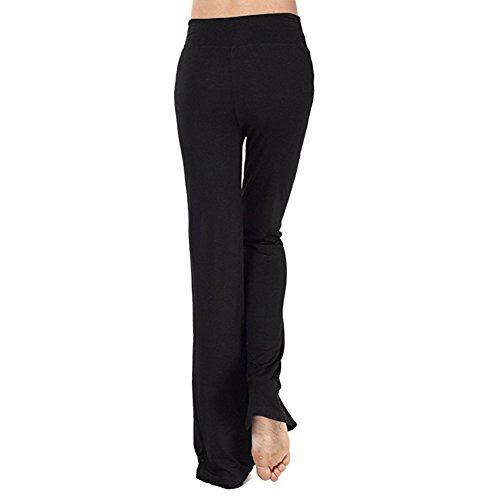a Modale pantaloni pantaloni tempo di yoga Sport di iBaste dimensioni casa e libero Nero grandi Bfwqx5Fd7