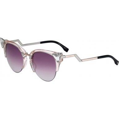 Fendi Pink Sunglasses (Fendi Women's Iridia Crystal Corner Sunglasses, Light Pink/Pink Gradient, One Size)