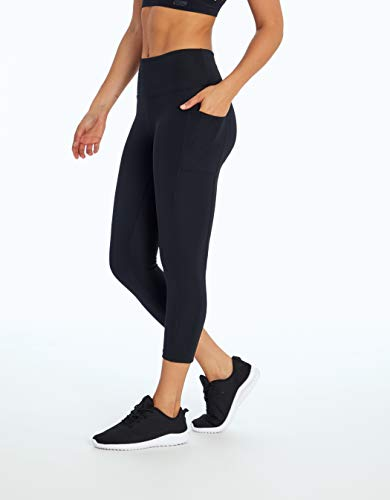 Bally Total Fitness High Rise Pocket Mid-Calf Legging, Black, Medium