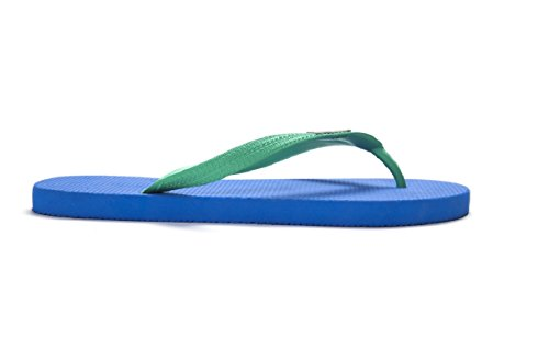 Bumpers Natural Rubber Flip Flops for Men, Eco-Friendly, Anti Slipping & Comfortable Flat Beach Sandals Blue & Green