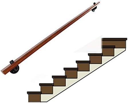 YHYS- Pasamanos de la Escalera de Pino, Punto Fijo de Hierro Forjado Vintage, Adecuado para ático (100 cm - 600 cm): Amazon.es: Hogar